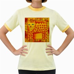 Patterned Leopard Women s Fitted Ringer T-Shirts