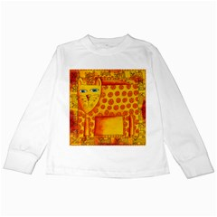 Patterned Leopard Kids Long Sleeve T-Shirts