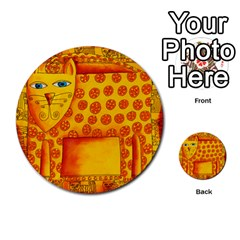 Patterned Leopard Multi Purpose Cards (round)