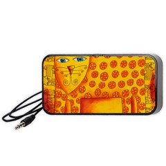 Patterned Leopard Portable Speaker (Black)