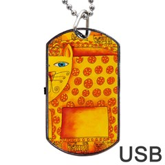 Patterned Leopard Dog Tag USB Flash (Two Sides)