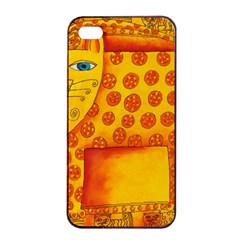 Patterned Leopard Apple Iphone 4/4s Seamless Case (black)