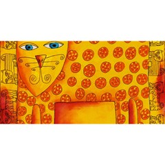 Patterned Leopard YOU ARE INVITED 3D Greeting Card (8x4)