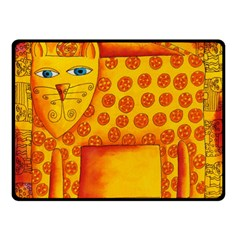 Patterned Leopard Double Sided Fleece Blanket (Small)