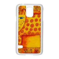 Patterned Leopard Samsung Galaxy S5 Case (White)