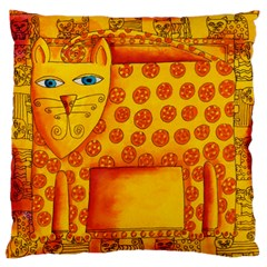Patterned Leopard Large Flano Cushion Cases (One Side)