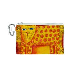 Patterned Leopard Canvas Cosmetic Bag (S)