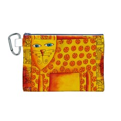 Patterned Leopard Canvas Cosmetic Bag (M)