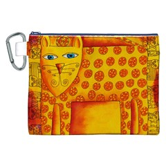 Patterned Leopard Canvas Cosmetic Bag (XXL)