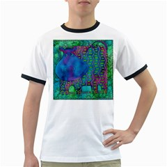 Patterned Hippo Ringer T-Shirts