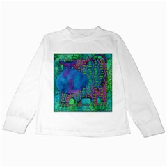 Patterned Hippo Kids Long Sleeve T-Shirts