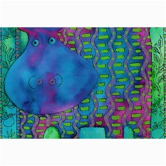 Patterned Hippo Collage 12  x 18