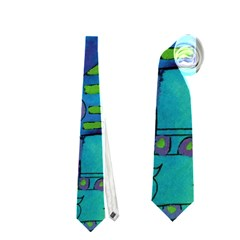 Patterned Hippo Neckties (Two Side)