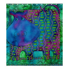 Patterned Hippo Shower Curtain 66  x 72  (Large)