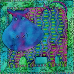 Patterned Hippo Magic Photo Cubes