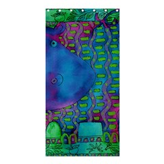 Patterned Hippo Shower Curtain 36  x 72  (Stall)