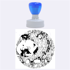 Patterned Hippo Rubber Round Stamps (large)