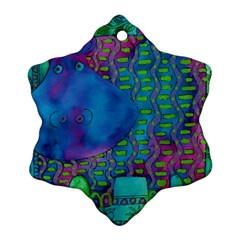 Patterned Hippo Ornament (Snowflake)