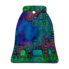Patterned Hippo Ornament (Bell)