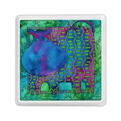 Patterned Hippo Memory Card Reader (Square)