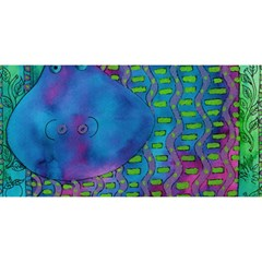 Patterned Hippo You Are Invited 3d Greeting Card (8x4)