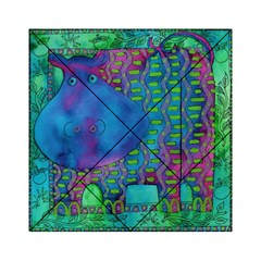 Patterned Hippo Acrylic Tangram Puzzle (6  x 6 )