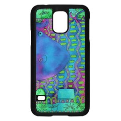Patterned Hippo Samsung Galaxy S5 Case (Black)