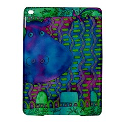 Patterned Hippo iPad Air 2 Hardshell Cases