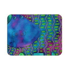 Patterned Hippo Double Sided Flano Blanket (Mini)