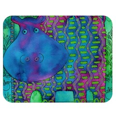 Patterned Hippo Double Sided Flano Blanket (medium)