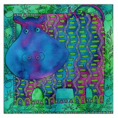 Patterned Hippo Large Satin Scarf (Square)