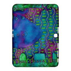 Patterned Hippo Samsung Galaxy Tab 4 (10 1 ) Hardshell Case