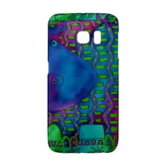 Patterned Hippo Galaxy S6 Edge