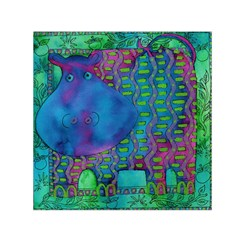 Patterned Hippo Small Satin Scarf (Square)