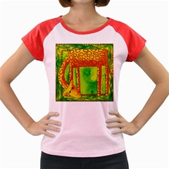 Patterned Giraffe  Women s Cap Sleeve T-Shirt