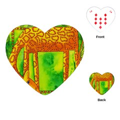 Patterned Giraffe  Playing Cards (Heart)