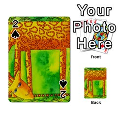 Patterned Giraffe  Playing Cards 54 Designs