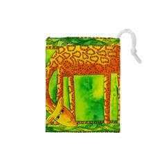 Patterned Giraffe  Drawstring Pouches (Small)