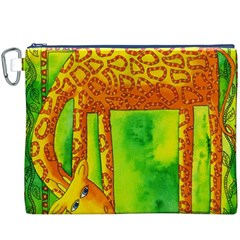 Patterned Giraffe  Canvas Cosmetic Bag (xxxl)