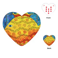 Patterned Fish Playing Cards (Heart)