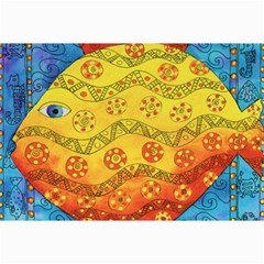 Patterned Fish Collage 12  x 18
