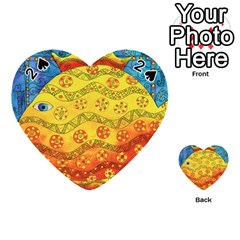 Patterned Fish Playing Cards 54 (heart)