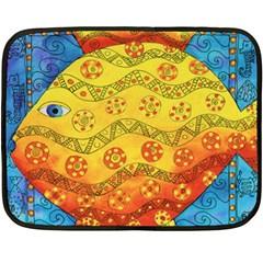 Patterned Fish Fleece Blanket (Mini)