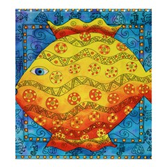 Patterned Fish Shower Curtain 66  x 72  (Large)