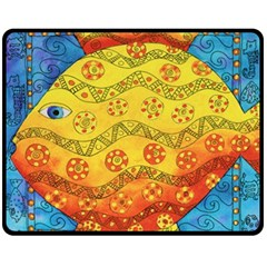 Patterned Fish Fleece Blanket (Medium)