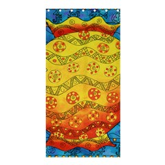 Patterned Fish Shower Curtain 36  x 72  (Stall)