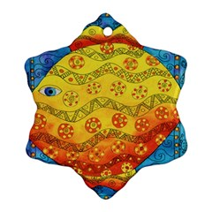 Patterned Fish Snowflake Ornament (2-Side)