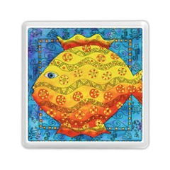 Patterned Fish Memory Card Reader (Square)