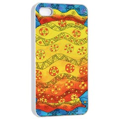 Patterned Fish Apple Iphone 4/4s Seamless Case (white)