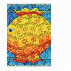 Patterned Fish Large Garden Flag (two Sides)